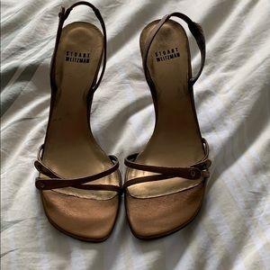 Shoes - Stuart Weitzman Triglow.  Beautiful bronze